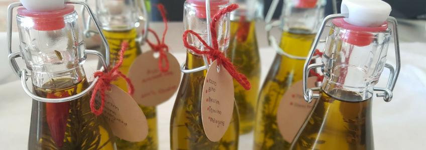 azeite com ervas aromáticas