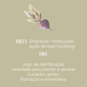 workshop Jardim de ervas aromaticas