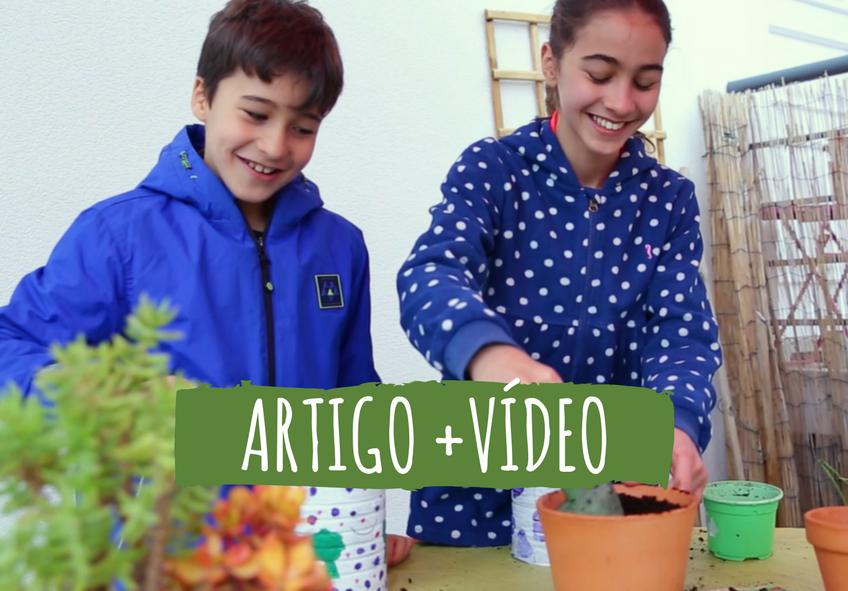 jardinagem com crianças cultivos da caseiro