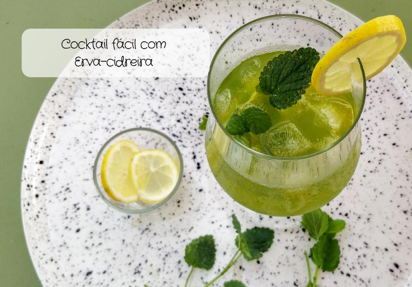 Cocktail fácil com Erva-cidreira